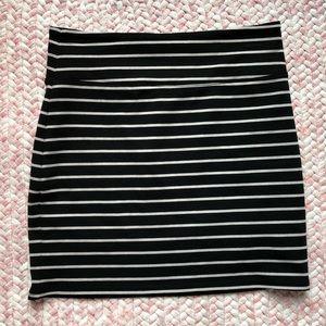Cute, striped bandage mini skirt